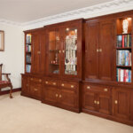 BESPOKE BREKAFRONT DISPLAY BOOKCASE IN CHERRY